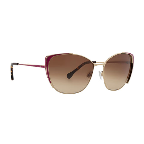 Trina Turk - Ikara 58mm Punch Sunglasses / Brown Gradient Lenses