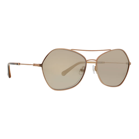 Trina Turk - Nido 58mm RoseGold Sunglasses / Brown Lenses