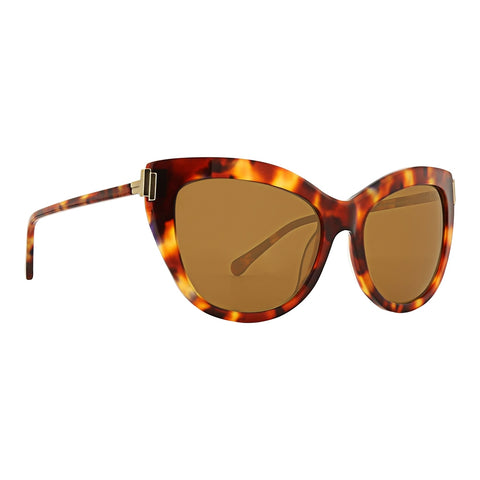 Trina Turk - Santorini 56mm Tortoise Sunglasses / Brown Lenses