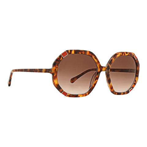 Trina Turk - Skyros 55mm Tortoise Sunglasses / Brown Gradient Lenses