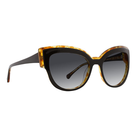 Trina Turk - Songo 56mm Black Sunglasses / Black Gradient Lenses