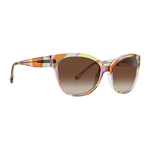 Trina Turk - Surin 56mm Punch Sunglasses / Brown Gradient Lenses