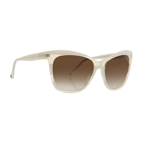 Trina Turk - Tobago 56mm Ivory Sunglasses / Brown Gradient Lenses