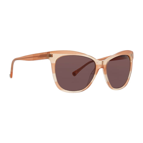 Trina Turk - Tobago 56mm Peach Sunglasses / Brown Lenses