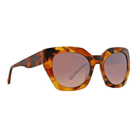 Trina Turk - Zanzibar Yellow Tortoise Sunglasses / Brown Lenses