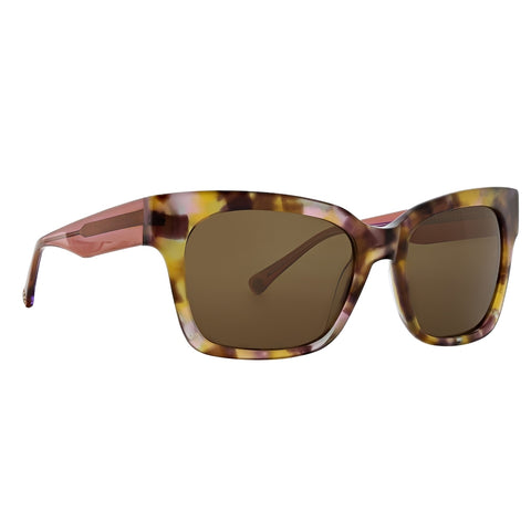 Trina Turk - D'Orso 56mm Lavender Tortoise Sunglasses / Brown Polarized Lenses