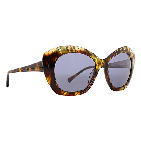 Trina Turk - Ibiza 53mm Brown Crystal Sunglasses / Smoke Lenses