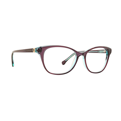 Trina Turk - Malin 53mm PurpleGreen Eyeglasses / Demo Lenses