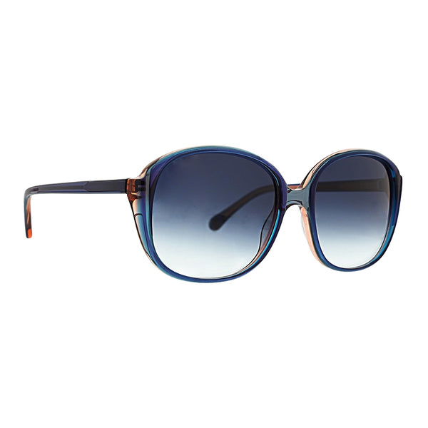 Trina Turk - Navagio 57mm Blue Crystal Sunglasses / Blue Gradient Lenses