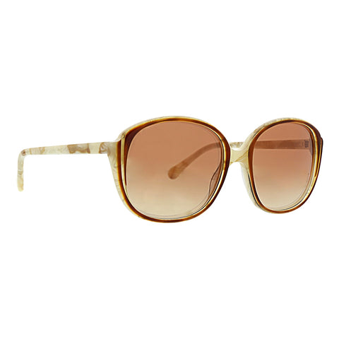 Trina Turk - Navagio 57mm Ivory Latte Sunglasses / Brown Gradient Lenses