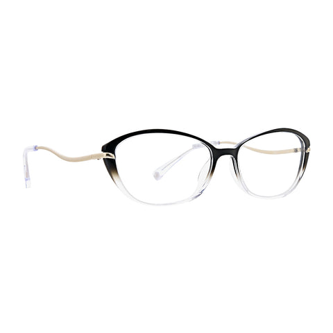 Trina Turk - Twilly Black Crystal Gradient Eyeglasses / Demo Lenses