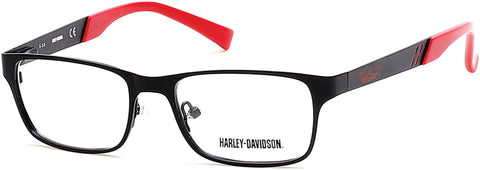 Harley-Davidson - HD0125T Matte Black Eyeglasses / Demo Lenses