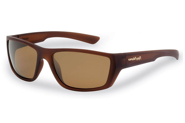 Flying Fisherman - Tailer 7729 Matte Brown Sunglasses, Amber Lenses