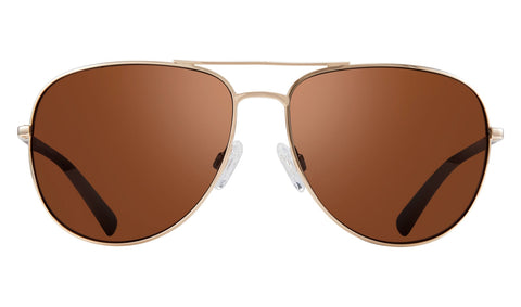 Revo - Tarquin 61mm Gold Sunglasses / Golf Polarized Lenses