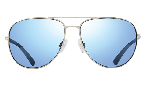 Revo - Tarquin 61mm Chrome Sunglasses / Blue Water Polarized Lenses