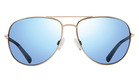 Revo - Tarquin 61mm Gold Sunglasses / Blue Water Polarized Lenses