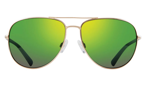 Revo - Tarquin 61mm Gold Sunglasses / Green Water Polarized Lenses