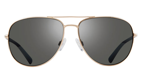 Revo - Tarquin 61mm Gold Sunglasses / Graphite Polarized Lenses