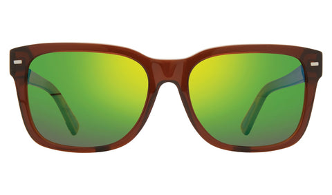 Revo - Taylor 56mm Brown Sunglasses / Green Water Lenses