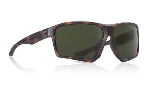 Dragon - Tenzig Matte Tortoise Sunglasses / Lumalens Green Lenses