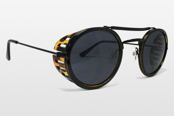 Spitfire - Technotronic 5 Black & Tortoise Shell Sunglasses, Black Lenses