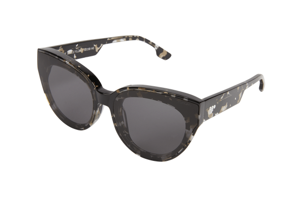 Komono - Lucile Flush Clear Demi Sunglasses / Solid Smoke Lenses