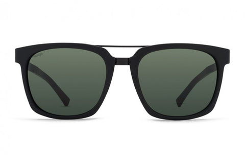 VonZipper - Plimpton Black Gloss Sunglasses / Wild Vintage Grey Polarized Lenses