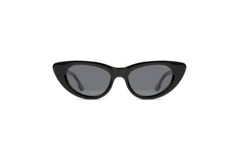 Komono - Kelly All Black Sunglasses / Solid Smoke Lenses