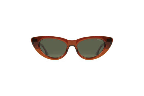 Komono - Kelly Rum Sunglasses / Solid Green Lenses