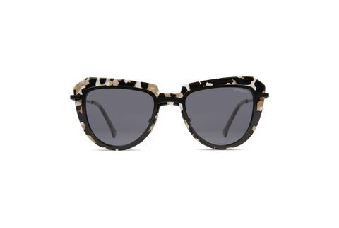 Komono - Paris Clear Demi Sunglasses / Solid Smoke Lenses