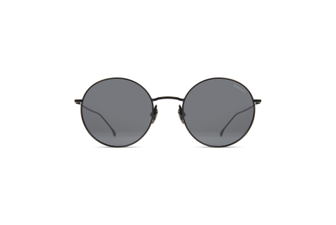 Komono - Yoko Black Sunglasses / Solid Smoke Lenses