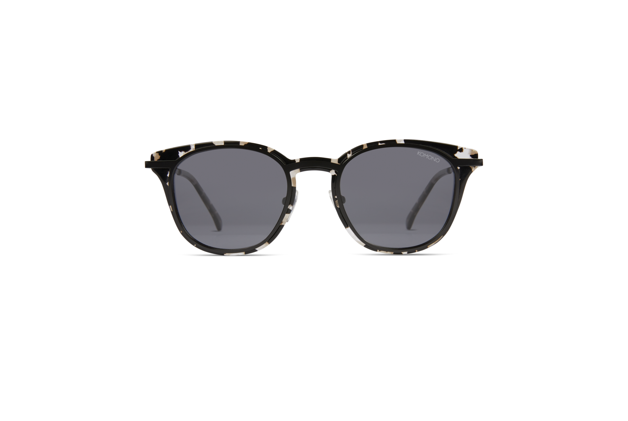 Komono - Sydney Clear Demi Sunglasses / Solid Smoke Lenses