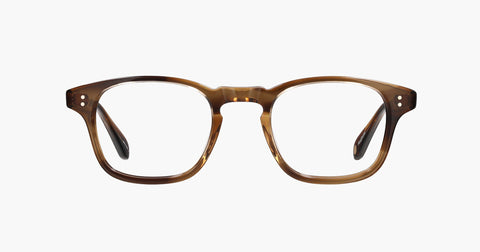 Garrett Leight - Thornton 46mm Khaki Tortoise Eyeglasses / Demo Lenses