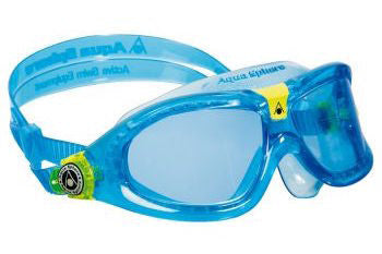 Aqua Sphere Vista Translucent Gray Blue Swim Goggles / Clear Lenses