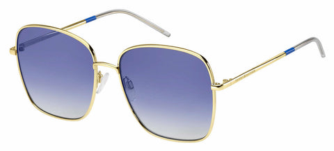 Tommy Hilfiger - Th 1648 S Gold Black Sunglasses / Gray Gold Lenses