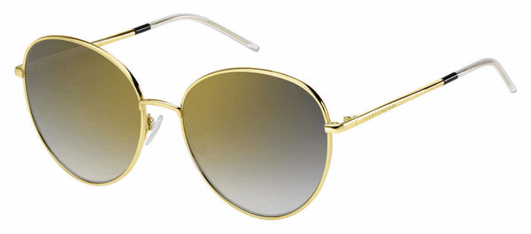Tommy Hilfiger - Th 1649 S Gold Black Sunglasses / Gray Gold Lenses