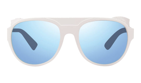 Revo - Traverse 57mm White Sunglasses / Blue Water Lenses