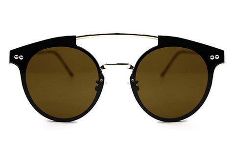 Spitfire - Trip Hop Silver Sunglasses, Brown Lenses