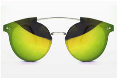 Spitfire - Trip Hop Silver Sunglasses, Yellow Mirror Lenses