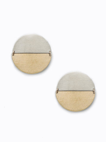 ABLE - Contempo Brass Silver Earrings