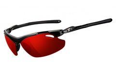 Tifosi - Tyrant 2.0 Gloss Black Sunglasses, Interchangeable AC Red / Clarion Red / Clear Lenses