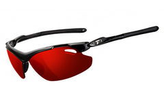 Tifosi - Tyrant 2.0 Gloss Black Sunglasses, Golf Interchangeable Clarion Red / EC / GT Lenses