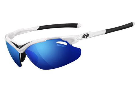 Tifosi - Tyrant 2.0 Black / White Sunglasses, Golf Interchangeable Clarion Blue / EC / GT Lenses