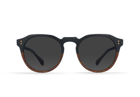 Raen - Remmy Burlwood Sunglasses / Black Polarized Lenses