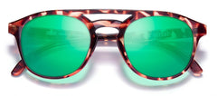 Sunski - Olemas Tortoise Sunglasses / Emerald Polarized Lenses