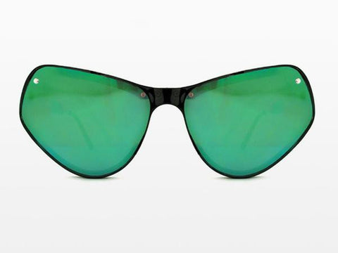 Spitfire - Ultra 2 Black Sunglasses, Green Mirror Lenses