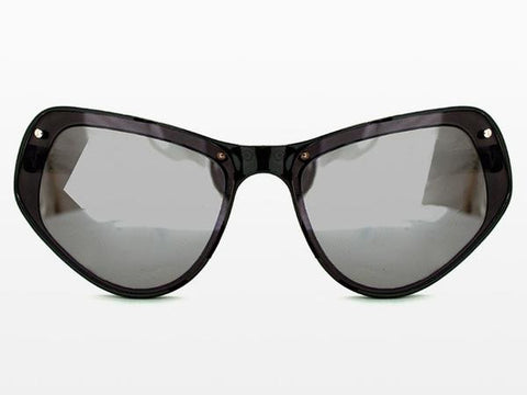 Spitfire - Ultra 1 Black Sunglasses, Black & Silver Mirror Lenses