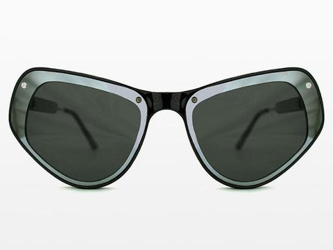Spitfire - Ultra 1 Black Sunglasses, Silver Mirror & Black Mirror Lenses