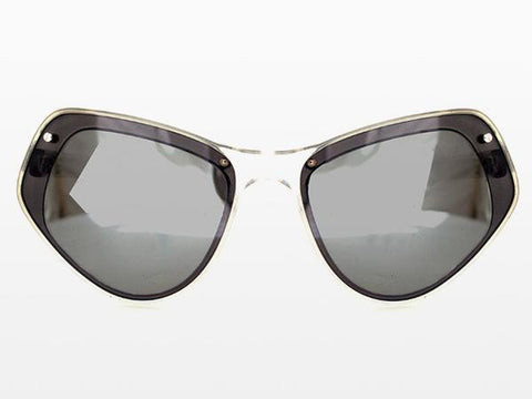 Spitfire - Ultra 1 Clear Sunglasses, Black & Silver Mirror Lenses