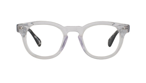 Scojo - Bogart Street Crystal/Black Ice Reader Eyeglasses / +2.00 Lenses